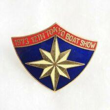 Rare Vintage 1973 12th Tokyo Boat Show Shield Souvenir Shirt Tie Clip (J511)