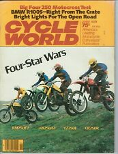 June 1978 Cycle World motorcycle magazine Kawasaki KX Yamaha Suzuki Honda CR250