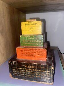 Rare Antique Careys Novelty Money Box Controversial Politically Incorrect Church