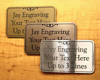 Custom Engraved Brushed Finish Office Suite Sign | Business Wall Address Plaque
