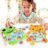 Baby Kids Magnetic Fishing Game Board Wooden Jigsaw Puzzle Early Educational Toy