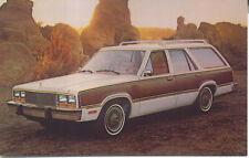 Mercury Zephyr Villager Wagon 1979 original Postcard