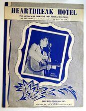 HEARTBREAK HOTEL Sheet Music 1956 as recorded by ELVIS PRESLEY  #480
