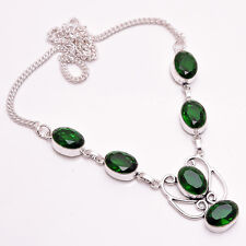 925 Sterling Silver Overlay Necklace, Handmade Gemstone Fashion Jewelry PN693