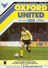 Home Teams O-R Oxford United League One Football Programmes