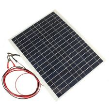 20W 12V Polycrystalline Silicon Solar Panel Battery Charger for Boat Camping