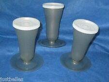 TUPPERWARE Parfait Sundae Containers w/Lids Smokey Gray SET of THREE