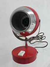 Lampada da tavolo Vintage * Eye Ball Space Age * TUTTA ROSSA anni 60 - 70