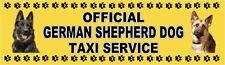 GERMAN SHEPHERD DOG OFFICIAL TAXI SERVICE Dog Car Sticker  By Starprint