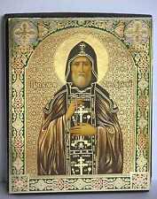 Ikone Heilige Oleg geweiht Holzplatte икона святой Олег освящена 12 x 10 x 2 cm