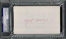 MEL HEIN SIGNED AUTO INDEX CARD PSA/DNA 83509810