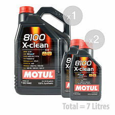 Car Engine Oil Service Kit / Pack 7 LITRES Motul 8100 X-clean 5W-40 7L