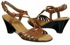 Naturalizer Sandie wedge strappy sandals brown 9.5 NEW