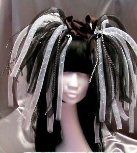Cyberlocks Haarteil Cyber Goth WGT Techno Hairfall #90