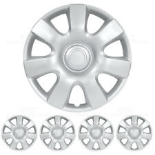 Hubcaps 15 Inch 4 Pieces Set Wheel Covers Hub Cap Silve ABS Protection