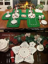 1970s Placemat, Coaster & Table Setting Patterns #404 Macrame A Merry Christmas
