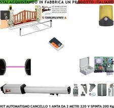 KIT APRICANCELLO AUTOMATICO 1 ANTA 2 MT 1 MOTORE 220 V FOTOCEL FARO RADIOC SELET