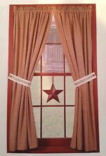 Primitive Country Rustic Burgundy Metal Farmhouse Hanging Window Star Decor