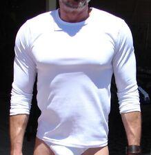Men's White Champion Long Sleeve Workout Shirt Medium Pre-Owned DuoDry