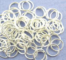 20 Biegeringe 6mm x 0,5mm open jump ring Federring Verbindungsring versilbert