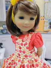 """Apple Pie - dress, apron, tights & shoes for 14.5"""" Ruby Red Fashion Friends"""