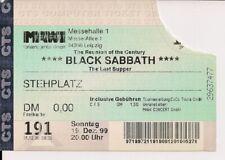 BLACK SABBATH Used Free Ticket Leipzig 19.12.1999