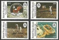 BRITISH VIRGIN IS. 1989  APOLLO 11  full SET   MNH CV$12.00