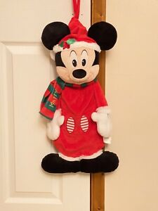 DISNEY STORE MICKEY MOUSE CHRISTMAS HANGING STOCKING PERSONALISED SCARF MATTY BN