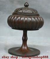 """5,2 """"encensoir brûleur d'encens de palais de la dynastie bronze chinois Qianlong"""