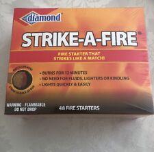 Diamond Strike-A-Fire Fire Starters 48 Count Box Beach Bonfire Camping BBQ Windy