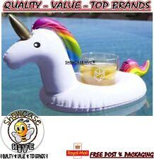 Inflable Unicornio flotante bebida puede Copa titular Bañera Piscina Playa Fiesta