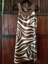 SKIRTIN AROUND Dress  Geo  Brown Ivory  Lined Sz 4 Excellent condition Beautifu