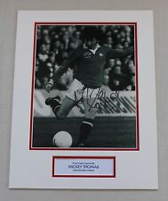 Mickey Thomas Manchester United HAND SIGNED Autograph Photo Mount COA Proof