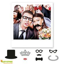 photo boot matrimonio accessori selfie  stick festa party occhiali baffi cappell