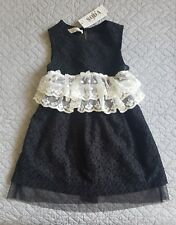 Soda Kids Girls Dress - Black - size 2-3