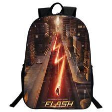 The Flash Super Hero Backpack Boys Cartoon School bag Student Shoulders Bag Gift
