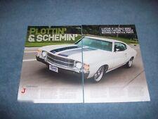 """1971 Chevelle RestoMod Article """"Plottin' & Schemin' """""""
