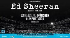 Ticket Ed Sheeran Olympiastadion München 29.07.2018 Stehplatz Innenraum