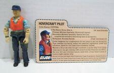 GI JOE ARAH 1984 CUTTER KILLER WHALE HOVERCRAFT PILOT COMPLETE W/ FILE CARD