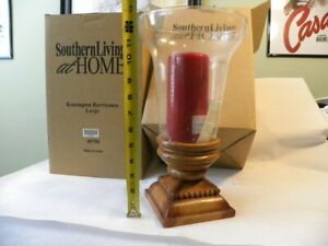 Southern Living At Home Kensington Glass Hurricane Candle Holder Large 40706