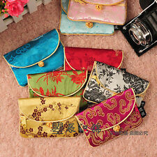 Wholesale10pcs Chinese Handmade Stylish Brocade Card Bag Purse With Button