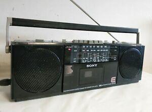 SONY CFS-2000L BOOMBOX PORTABLE RADIO CASSETTE PLAYER VINTAGE RETRO BLACK RARE