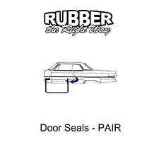 1963 1964 1965 Ford Falcon Mercury Comet Door Seals Pair - 2 Door HT