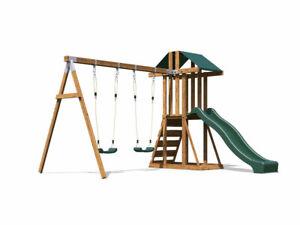 Kids Wooden Climbing Frame Swing Slide Sets Garden Play Set - JuniorFort Tower