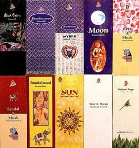 20- 200 Sticks KAMINI Incense CHOOSE / MIXED Bulk Pack HEX Floral Sandal Insence