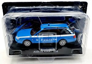 EBOND Modellino Polizia Audi A6 Avant 1996 - blu - De Agostini - 1:43 - 0085.