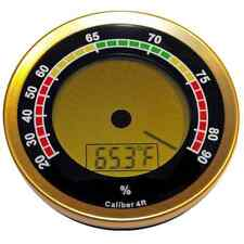 NEW CALIBER 4R - GOLD DIGITAL ROUND THERMO-HYGROMETER