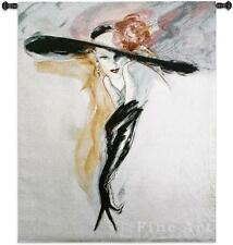 46x53 BLACK GLOVES Lady Woman Fashion Tapestry Wall Hanging