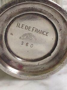 """VINTAGE ILE DE FRANCE ANTIQUE FRENCH SILVER Cup 3"""" MERIDEN S.P. Co 360"""