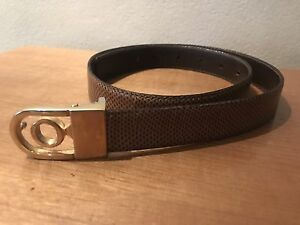 Oroton Watersnake Belt: 25-28 Inches (63-75cm) - Removable Buckle 25mm Lug
